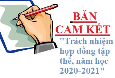 BẢN CAM KẾT TRÁCH NHIỆM HỢP ĐỒNG  TẬP THỂ, NĂM HỌC 2020-2021